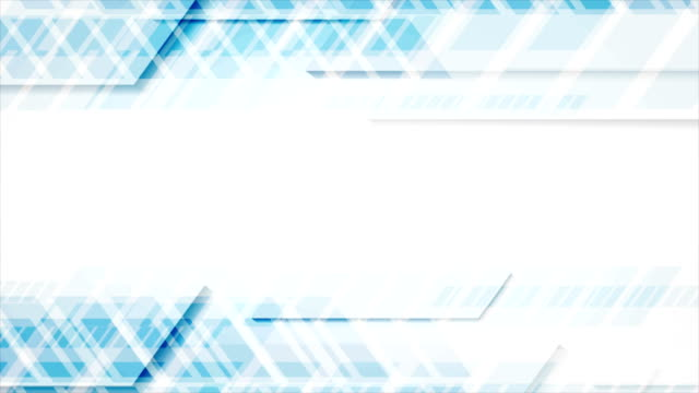 Bright blue tech geometric abstract video animation video