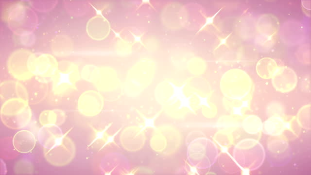 bright circle bokeh and stars festive loopable background video
