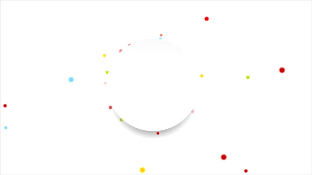 Bright circles and blank label video animation video