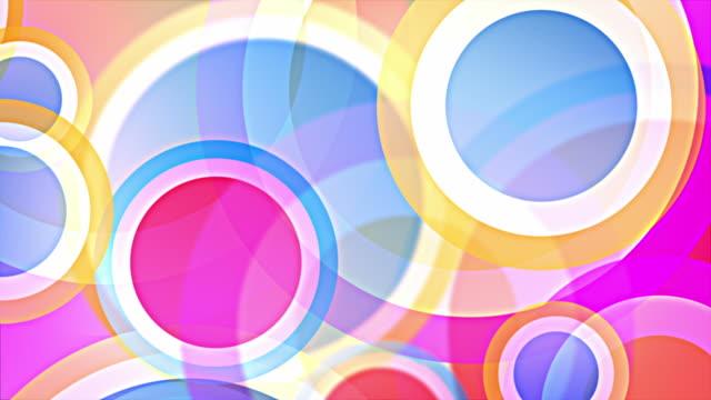Bright Circles Background Loop - Pastel Rainbow (Full HD) video