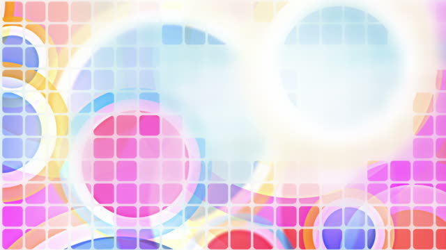 Bright Circles Tiled Background Loop - Pastel Rainbow (Full HD) video