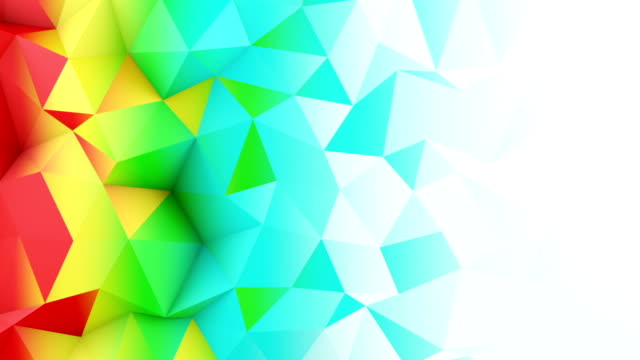 Bright color gradient polygonal surface loopable 3D animation video