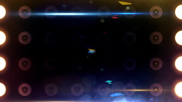 Bright Flood Lights Background Loop Multi-Colored Overlays video
