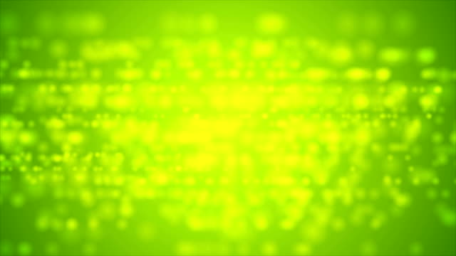 Bright green defocused lights video animation video
