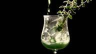 Bright Green Mint Drink video