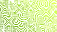 Bright green retro circles abstract motion design video