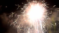 bright light of  fireworks of new years Festival of Thailand in Bangkok video