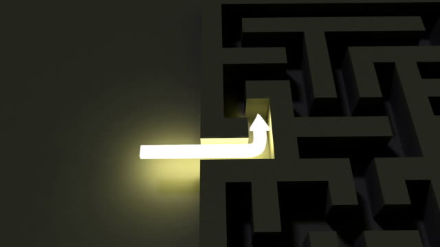 Bright line solving a dark maze puzzle video
