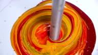 bright multicoloured paints video