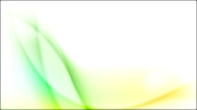 Bright shiny green orange waves video animation video