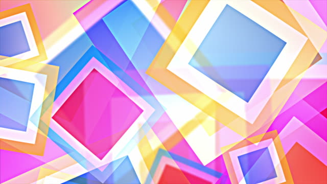 Bright Squares Background Loop - Pastel Rainbow (Full HD) video