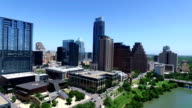 Bright Sunny Austin Texas Day Time Aerial Shot Downtown video