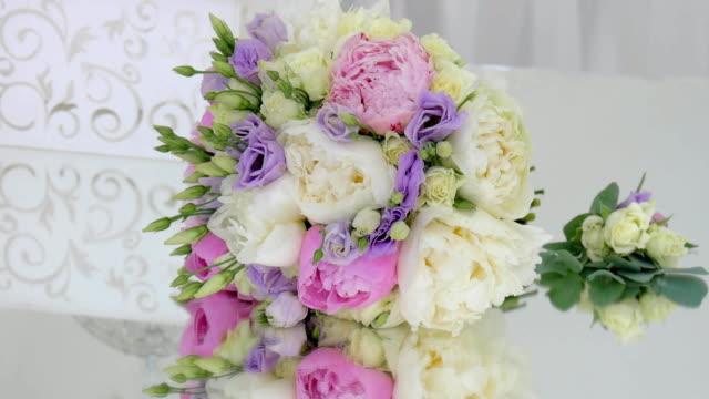 bright wedding bouquet video