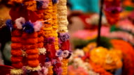 Brightly colored flowers at the Basantapur Durbar Square video
