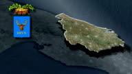 Brindisi's province  whit Coat of arms animation map video
