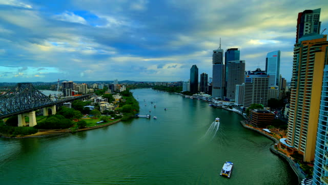 Brisbane: Day to night time lapse video