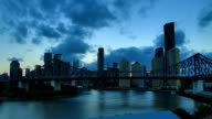 Brisbane, QLD: Day to night time lapse video
