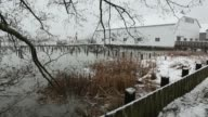 Britannia Heritage Shipyard Snowstorm, Richmond, BC video