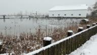 Britannia Heritage Shipyard Winter Snow, Richmond video
