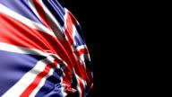 British Flag HD 1080, PAL, NTSC, alpha included, looping video