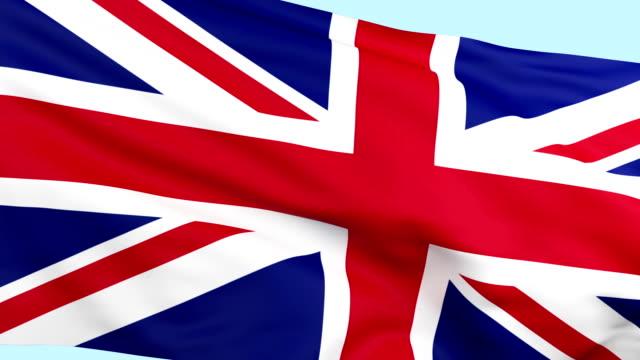 British Flag waving loopable video