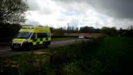 British NHS Ambulance On An Emergency Call video