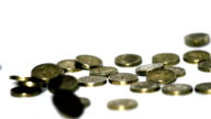 British pound coin falling video