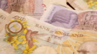 MACRO British Pound Notes Credit Crunch Recession £10 £20 video