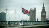 British waving Flag with Big Ben video