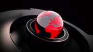 Broadcast earth globe animation video