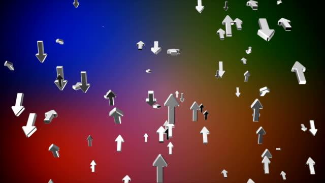 Broadcast Rising Hi-Tech Arrows, Multi Color, Corporate video