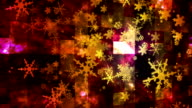 Broadcast Rising Snow Flakes 01 video