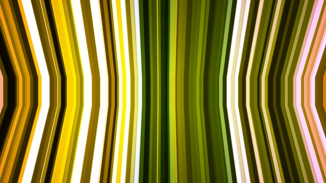 Broadcast Twinkling Vertical Bent Hi-Tech Strips, Green, Abstract video