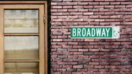 Broadway street sign. The world's most famous street of Broadway in New York. video