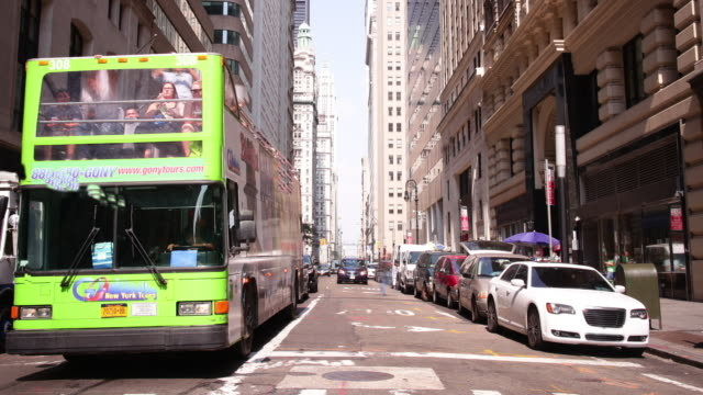 broadway traffic sunny day 4k time lapse from new york city video