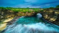 Broken Bay Nusa Penida Indonesia time lapse 4k video