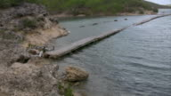 Broken bridge on a foothpath video