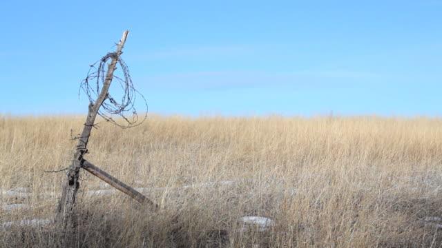 broken fence rural Wyoming video