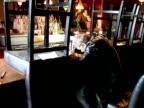 Broken Man at Closing Bar, Hits Fist in Frustration video