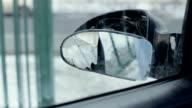 Broken side-view mirror video