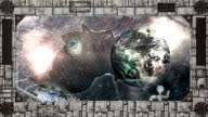 Broken spaceship HD video