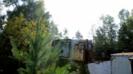 Broken-down bus in the Chernobyl exclusion zone video