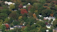Brookline Suburbs  - Aerial View - Massachusetts,  Norfolk County,  United States video