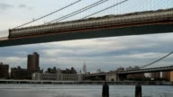 Brooklyn and Manhhatan Bridges with the Empire State Building video