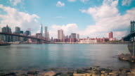 brooklyn bay manhattan view 4k time lapse from ny usa video