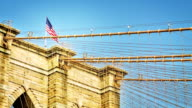 Brooklyn bridge and american flag video