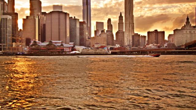 Brooklyn Bridge and Lower Manhattan City Skyline video