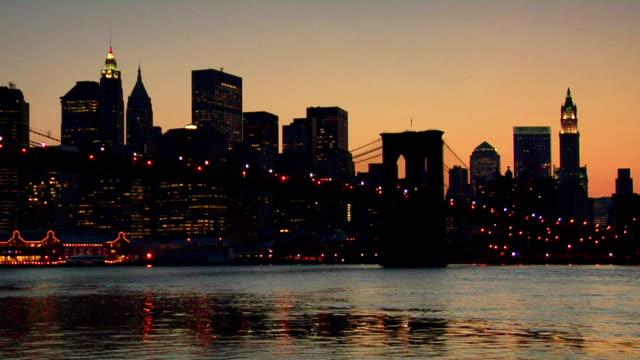 Brooklyn Bridge and Lower Manhattan Skyline video