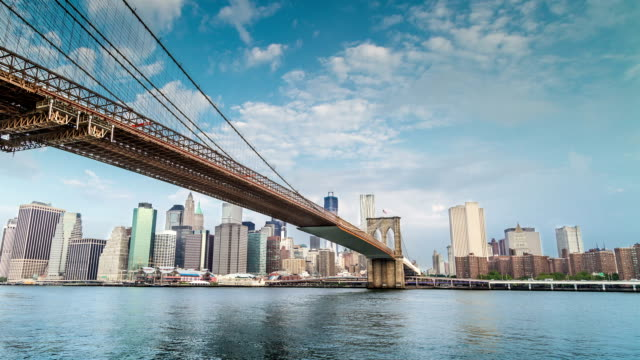 Brooklyn Bridge and Manhattan Skyline video
