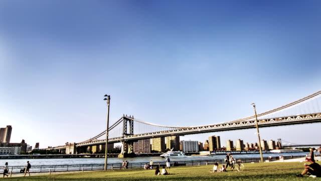 Brooklyn bridge and park at NYC video